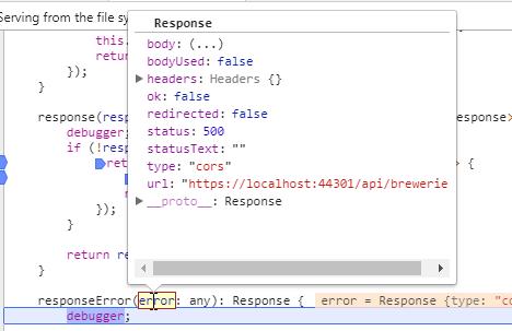 Handling  NET Core Web API Exceptions with an Aurelia